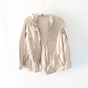 H&M | Tan Cream Utility Jacket Size 4